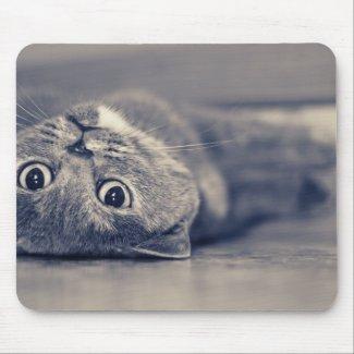 Upside Down Cat mousepad