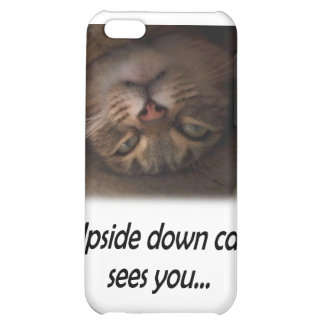 Upside down cat sees you iPhone 5C cover