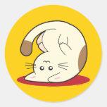 Upside Down Cat Sticker