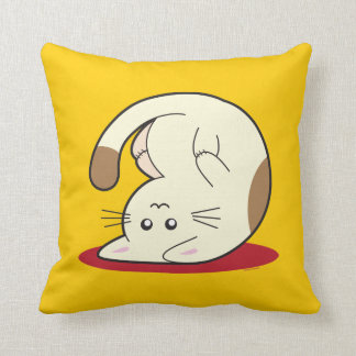 Upside Down Cat Throw Pillow
