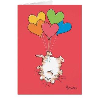 UPSIDE-DOWN CAT Valentines by Boynton Greeting Card