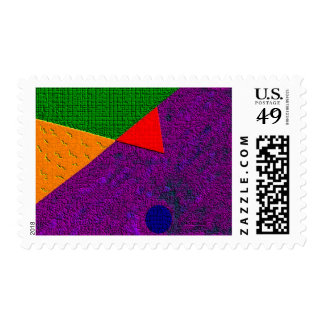 Upside Down Cement Postage Stamp