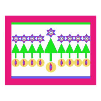 Upside Down Christmas Hanukkah Postcard