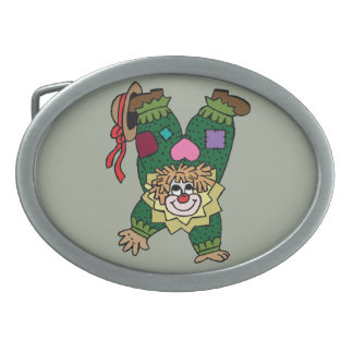 Upside Down Clown Belt Buckle