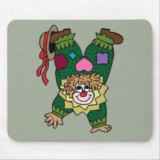 Upside Down Clown Mouse Pad