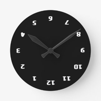 Upside Down Confusion Round Wall Clock