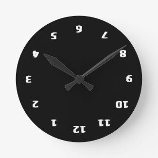 Upside Down Confusion Round Clock