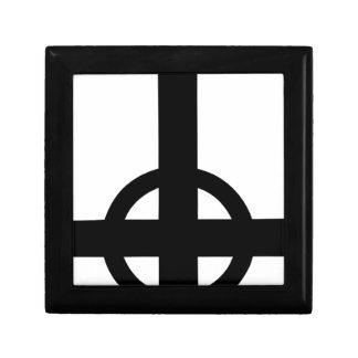 Upside Down Cross Keepsake Box
