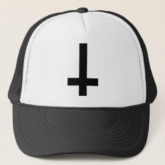 Upside Down Cross Trucker Hat