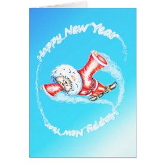 Upside-down Dwarf HNY Skywriting Card