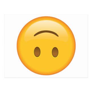 Upside-Down Face - Emoji Postcard