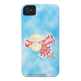 Upside-down girl flying in the sky iPhone 4 Case-Mate cases