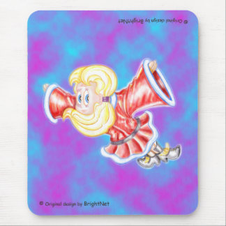 Upside-down girl mouse pad