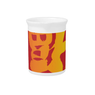 Upside Down Good Fortune Chinese Word Illustration Pitcher