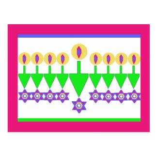 Upside Down Hanukkah Christmas Card Post Card