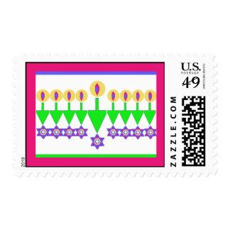 Upside Down Hanukkah Christmas Stamps - Sheet