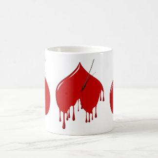 Upside Down Heart (Add Text) Classic White Coffee Mug