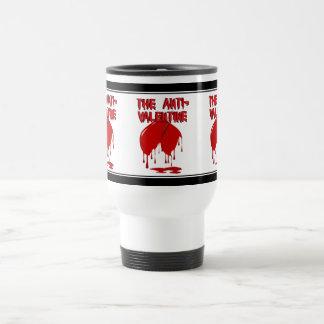 Upside Down Heart w/Puddle (Anti-Valentine) 15 Oz Stainless Steel Travel Mug
