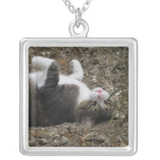 Upside Down Kitty Necklace