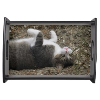 Upside Down Kitty Small Serving Tray