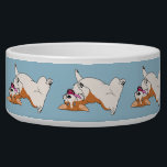 "Upside-down Laughing Corgi Bowl<br><div class=""desc"">Pamper you pup with this Upside-down Laughing Corgi Large Pet Bowl designed by www.zazzle.com/CorgiGifts.</div>"
