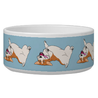 Upside-down Laughing Corgi Bowl