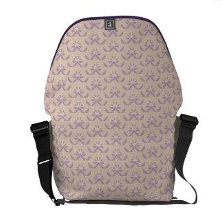 Upside down lavender pattern courier bag