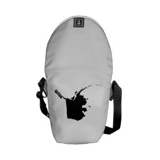 Upside Down Map of Alaska Courier Bags