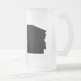 Upside Down Map of Arizona Frosted Glass Beer Mug