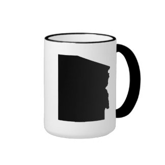 Upside Down Map of Arizona Ringer Mug