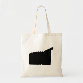 Upside Down Map of Connecticut Tote Bag