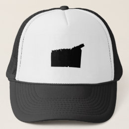 Upside Down Map of Connecticut Trucker Hat