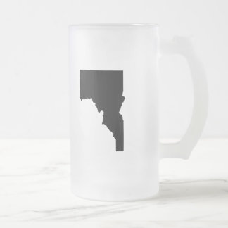 Upside Down Map of Idaho Frosted Glass Beer Mug