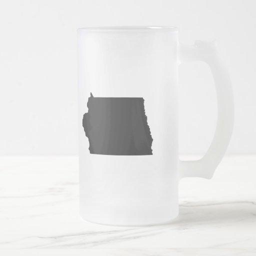 Upside Down Map of Iowa Coffee Mug