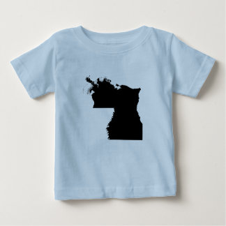 Upside Down Map of Louisiana Baby T-Shirt