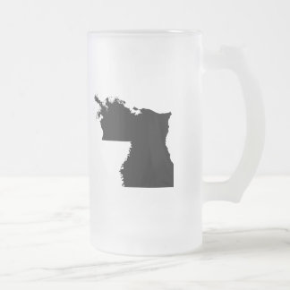 Upside Down Map of Louisiana Frosted Glass Beer Mug