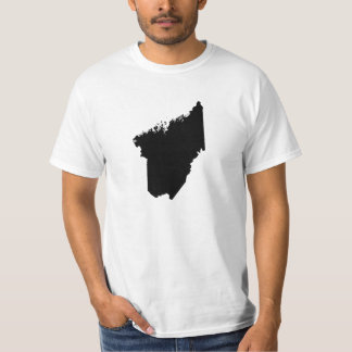Upside Down Map of Maine T-Shirt