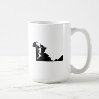 Upside Down Map of Maryland Coffee Mug
