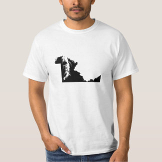 Upside Down Map of Maryland T-Shirt