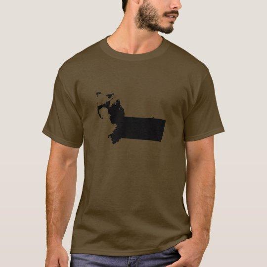 Upside Down Map of Massachusetts T-Shirt