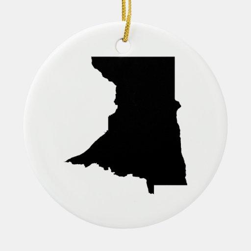 Upside Down Map of Minnesota Ceramic Ornament