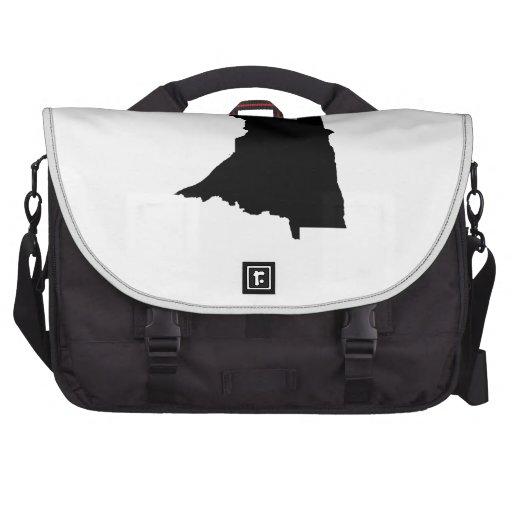 Upside Down Map of Minnesota Bag For Laptop