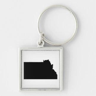Upside Down Map of Montana Keychain