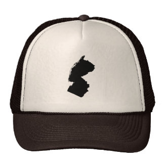 Upside Down Map of New Jersey Trucker Hat