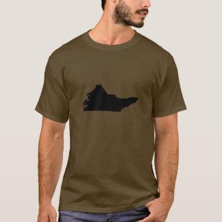 Upside Down Map of North Carolina T-Shirt