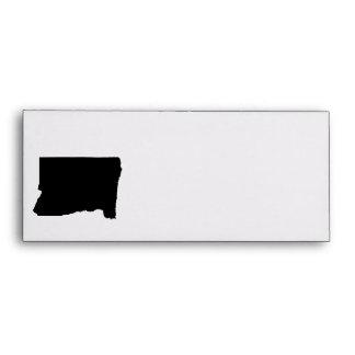 Upside Down Map of Oregon Envelope