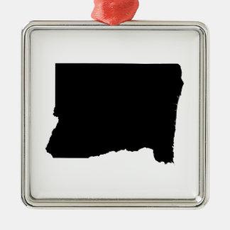 Upside Down Map of Oregon Metal Ornament