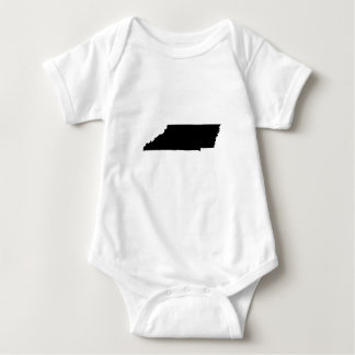Upside Down Map of Tennessee Baby Bodysuit