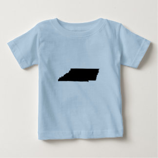 Upside Down Map of Tennessee Baby T-Shirt