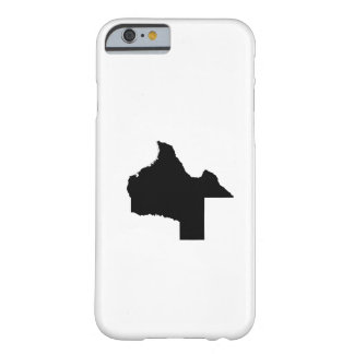 Upside Down Map of Texas Barely There iPhone 6 Case
